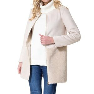NWT Sherpa and Faux Suede Coat